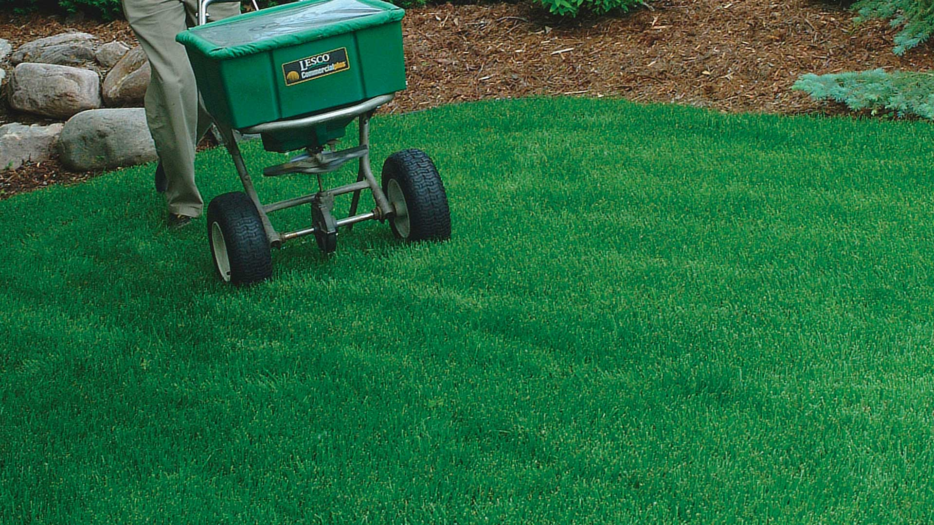 The professionals at 1.888.LawnTec treating a lawn in Chatham, NJ.