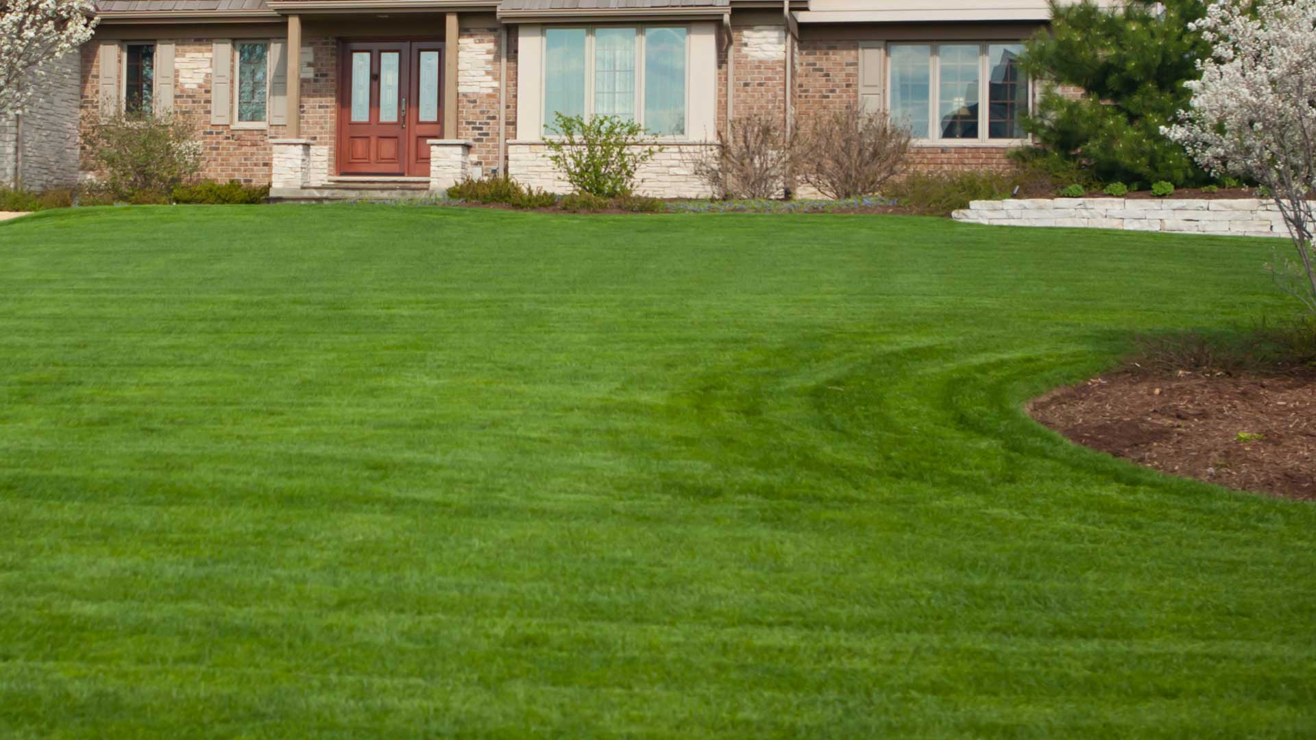 A beautiful lawn, cared for by 1.888.LawnTec in New Providence, NJ.